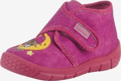 Fischer-Markenschuh Hausschuhe in gelb / pink / fuchsia, Produktansicht