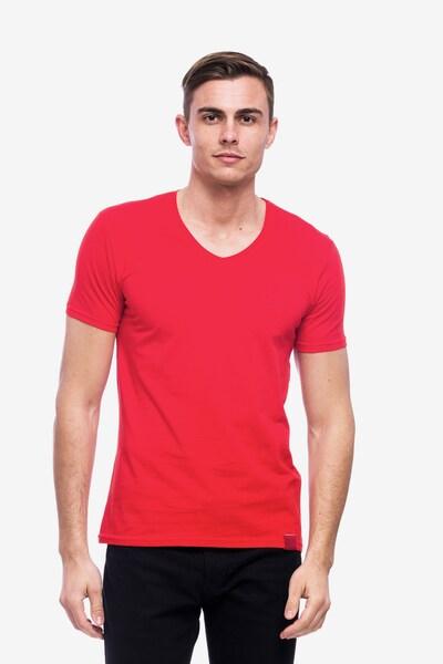 Tom Barron V-Shirt in rot, Produktansicht