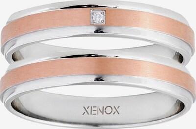 XENOX Partnerring in rosegold / silber, Produktansicht