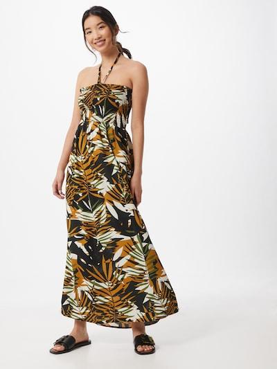 ONLY Poletna obleka 'LIBBY' | rumena / zelena / temno zelena / bela barva: Frontalni pogled