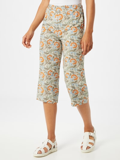 Soyaconcept Hose 'GEMMA' in beige / hellblau / khaki / orange, Modelansicht