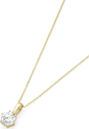 FIRETTI Kette mit Anhänger 'Kleeblatt' in gold, Produktansicht