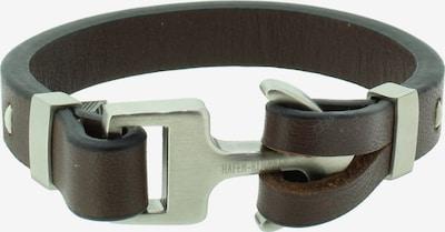 Hafen-Klunker Armband in braun / silber, Produktansicht
