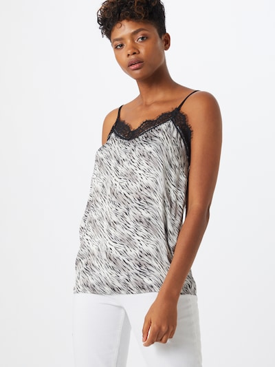 Soyaconcept Top 'Inari 4' in de kleur Zwart / Wit: Vooraanzicht