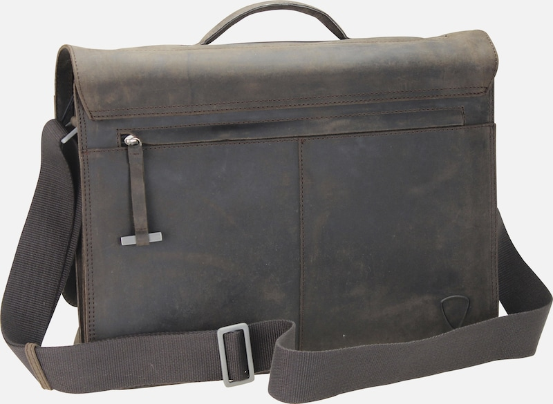 STRELLSON 'Richmond Messenger' BriefBag XL Leder 41 cm Laptopfach