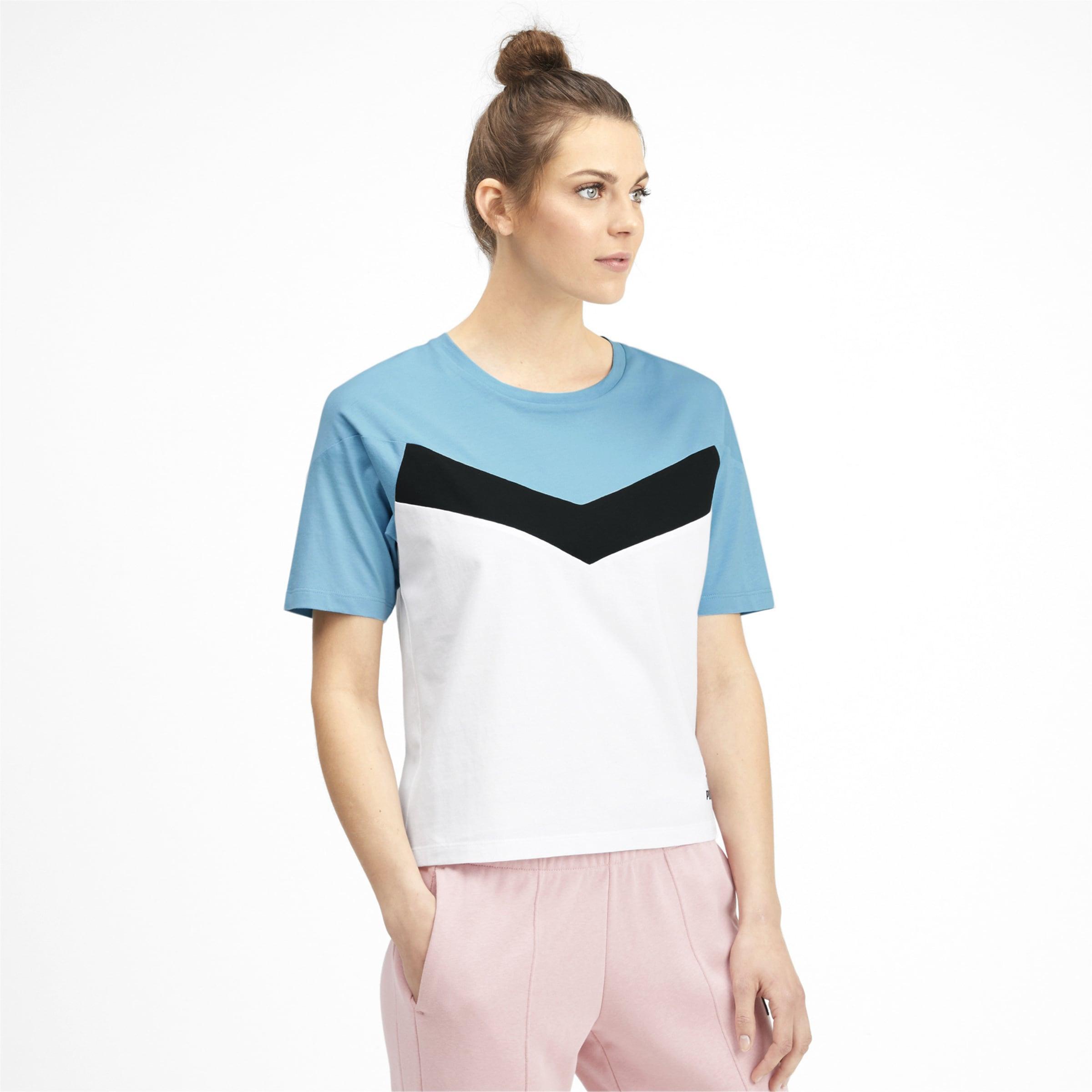 In shirt RauchblauSchwarz Puma T Weiß dthQCsr