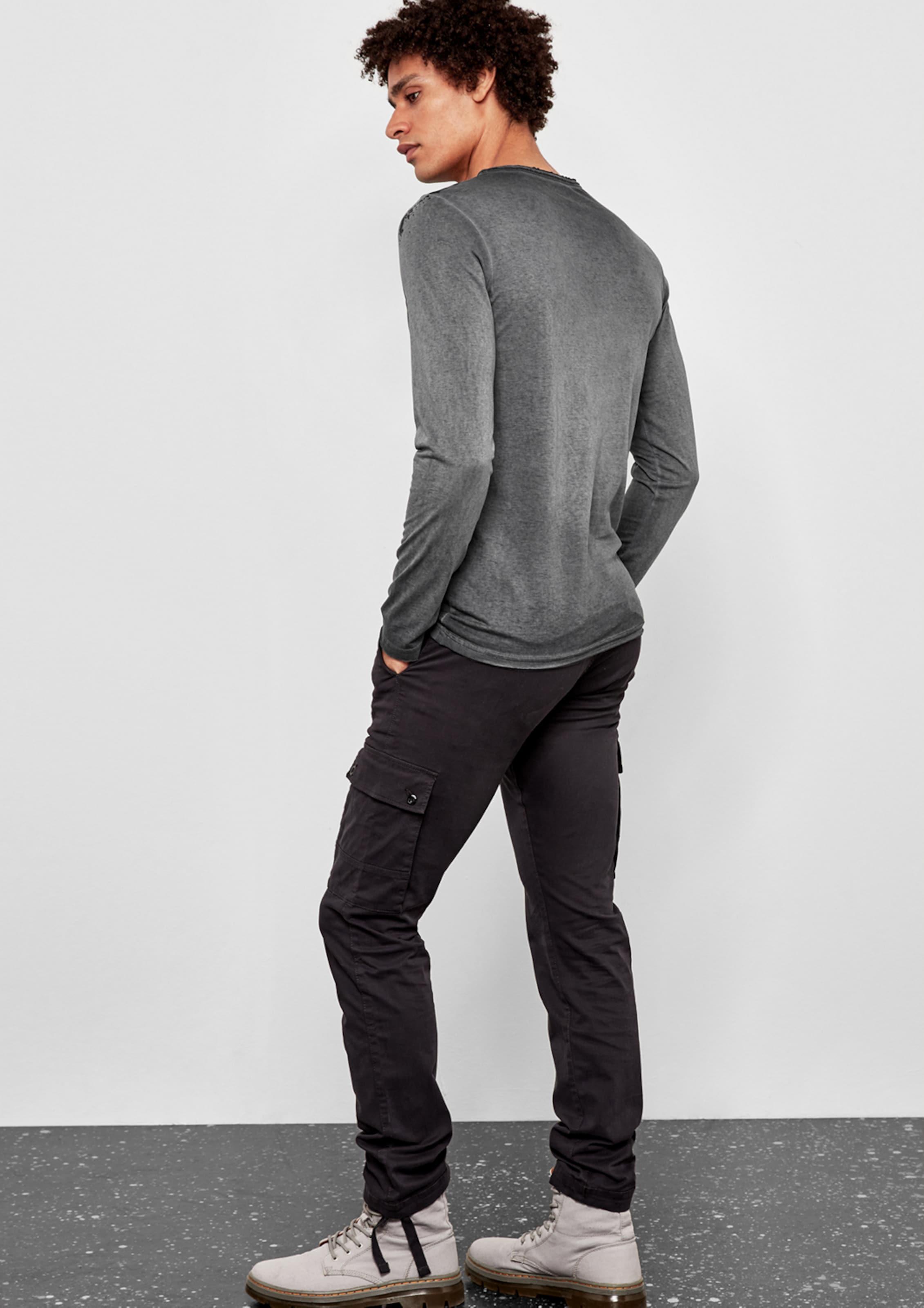 Q/S designed by Henley-Shirt mit Vintage-Print Mode-Stil Online  Spitzenreiter Spielraum Neue Stile 5nS6MqJ4q6
