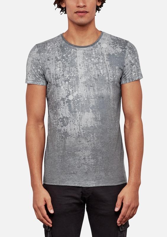 Q/S designed by T-Shirt mit Spray-Print