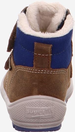 SUPERFIT Stiefel in blau / braun: Rückansicht