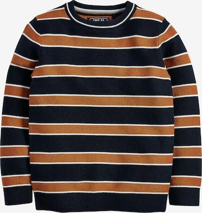 NEXT Pullover in blau / braun / weiß, Produktansicht