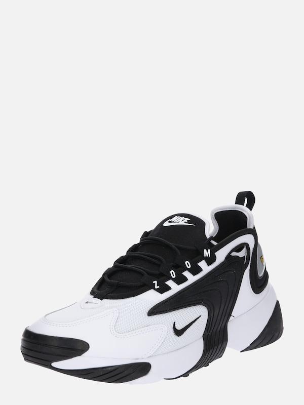 Nike Sportswear Sneaker 'Nike Zoom 2K' in schwarz / weiß