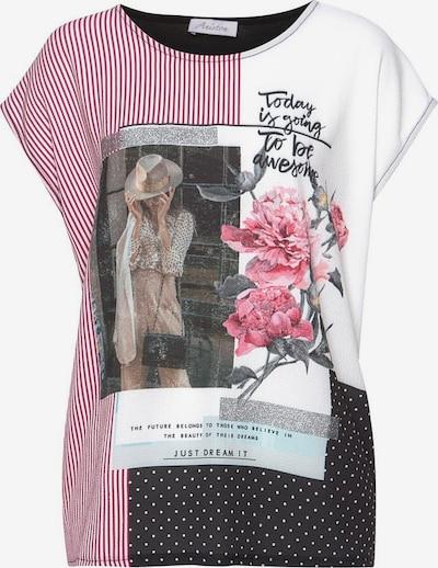 ANISTON Shirt in dunkelpink / schwarz / weiß, Produktansicht