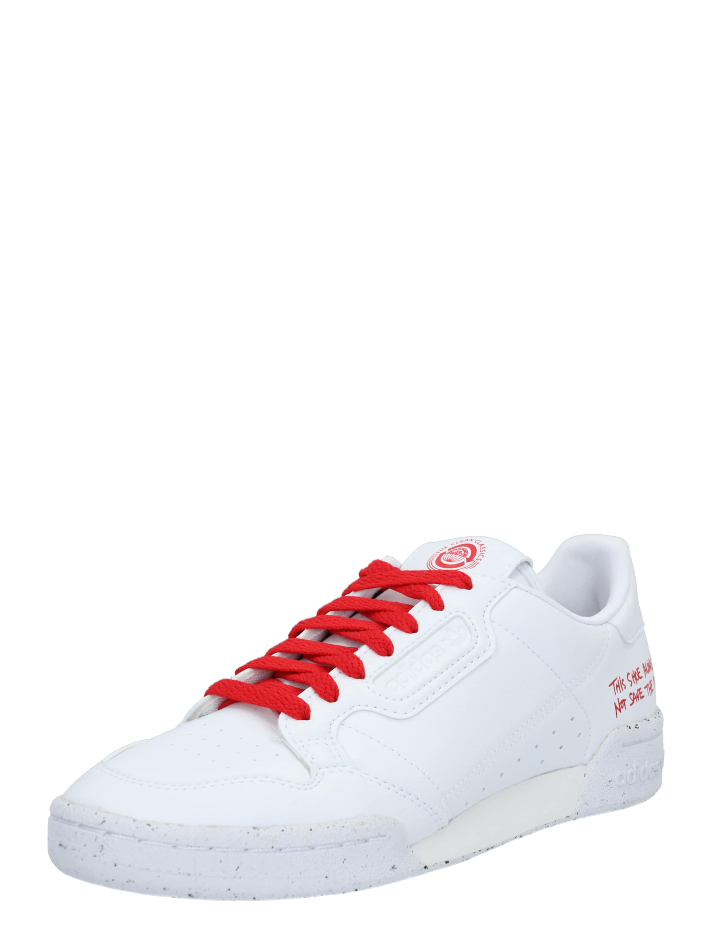ADIDAS ORIGINALS Sneaker 'CONTINENTAL 80' in rot / weiß