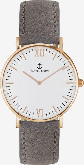 Kapten & Son Analoguhr 'Campus' in grau / rosé, Produktansicht