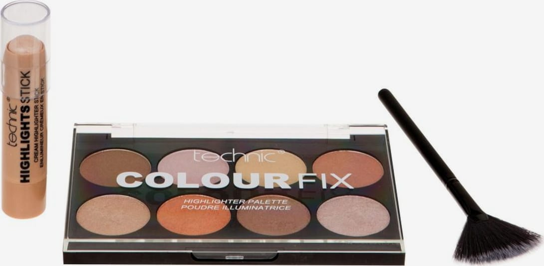 technic Highlighter-Palette 'Highlight & Glow' in mischfarben, Produktansicht