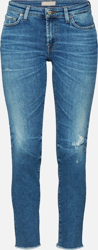 7 for all mankind Jeans 'PYPER CROP LUXE VINTAGE CAPITOLA' in blue denim, Produktansicht