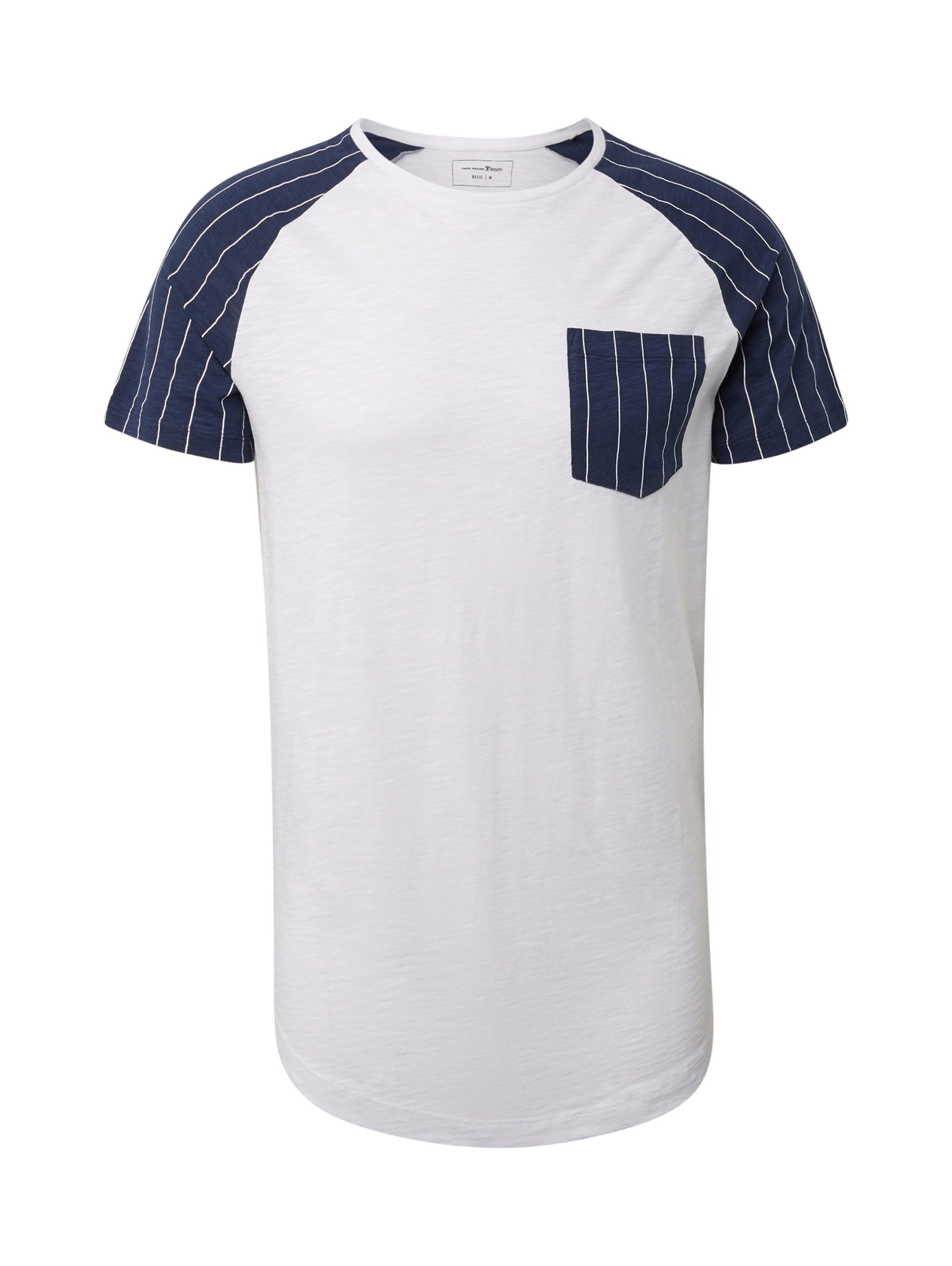 Tom Denim shirt T Weiß In Brusttasche Tailor Mit EIYWH2D9
