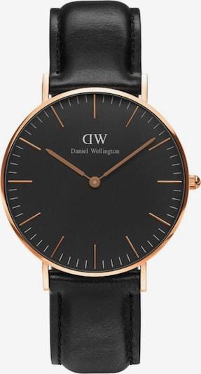 Daniel Wellington Armbanduhr in rosegold / schwarz, Produktansicht