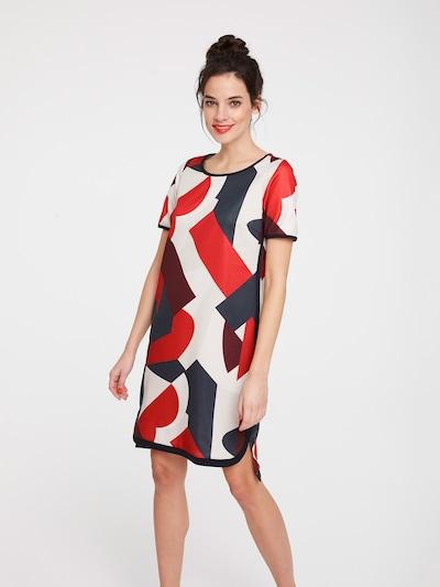 heine Sukienka w kolorze szary / czerwony / białym, Podgląd na modelu(-ce)