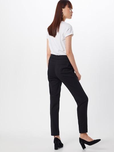 Kelnės su kantu iš HUGO , spalva - juoda: Vaizdas iš galinės pusės