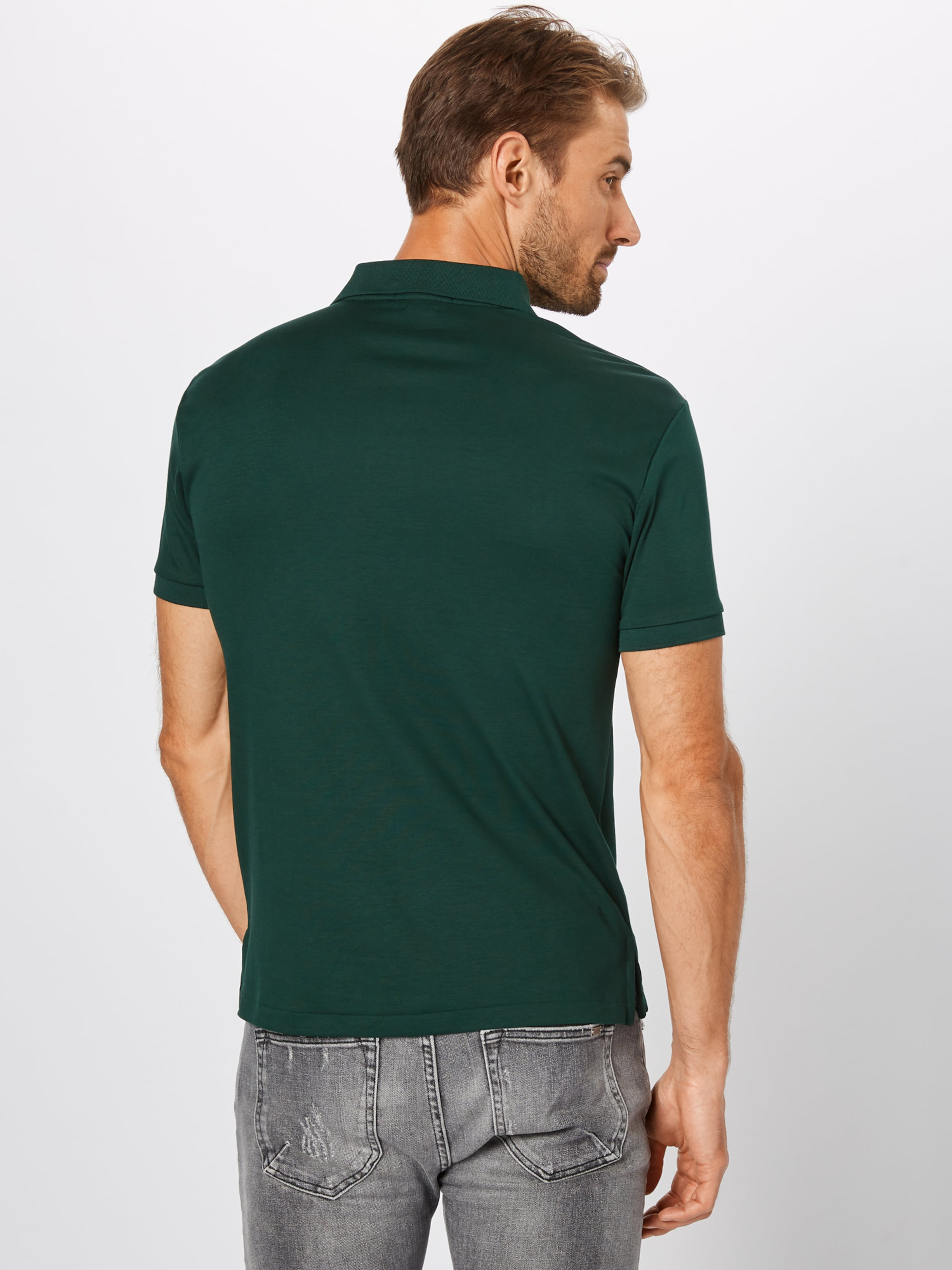 In Polo Poloshirt knit' Lauren Ralph 'short Dunkelgrün Sleeve D2WEH9I