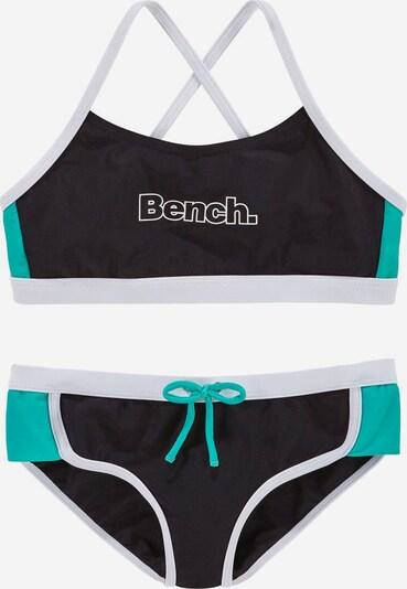 BENCH Bustier-Bikini in türkis / schwarz, Produktansicht