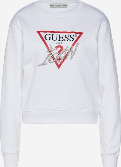 GUESS Sweatshirt 'BASIC TRIANGLE' in rot / schwarz / weiß, Produktansicht