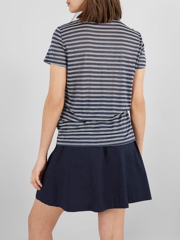 Y.A.S Kurzärmeliges Rüschen-T-Shirt