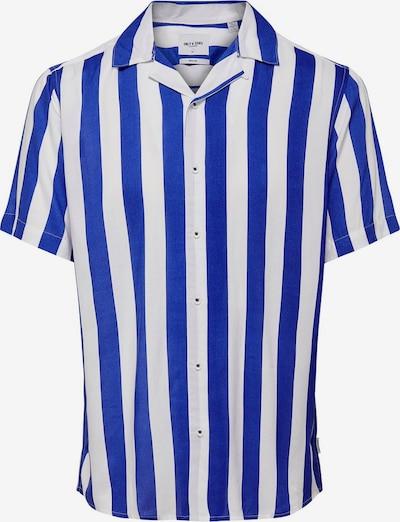 Only & Sons Gestreiftes Kurzarmhemd in blau, Produktansicht
