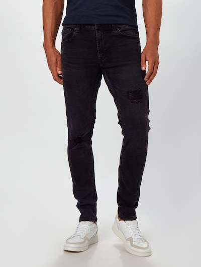Only & Sons Jeans 'ONSWARP SKINNY BLACK 6633' in black denim, Modelansicht
