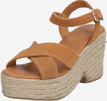 Superdry Sandale in Braun
