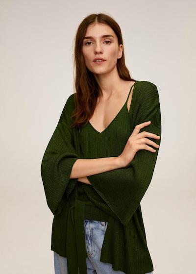 MANGO Strickjacke in dunkelgrün, Modelansicht