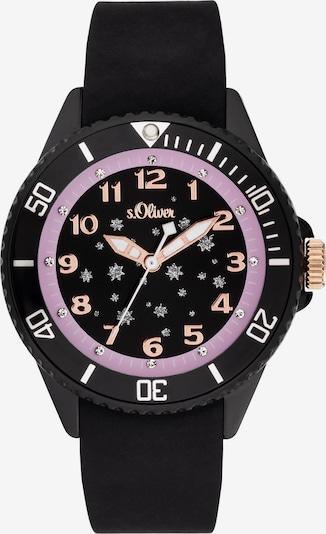 s.Oliver Uhr in rosegold / lila / schwarz, Produktansicht