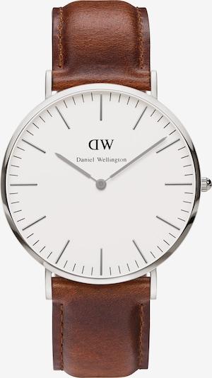Daniel Wellington Armbanduhr 'St. Mawes' in braun / silber, Produktansicht