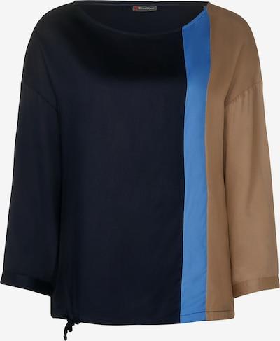 STREET ONE Bluse in navy / hellblau / brokat, Produktansicht