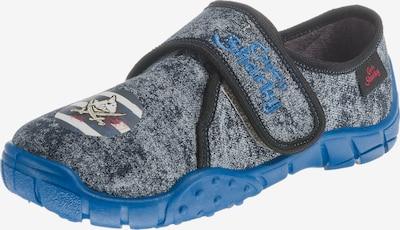 SPIEGELBURG Hausschuhe 'Capt´n Sharky' in enzian / himmelblau, Produktansicht