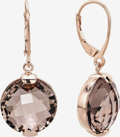Zoccai Earrings in Brown / Rose gold, Item view