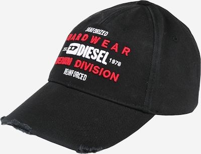 DIESEL Cap 'DIVISION' in rot / schwarz / weiß, Produktansicht