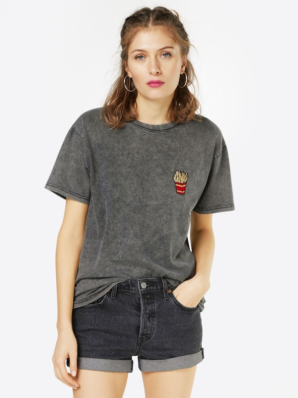 Colourful Rebel T-shirt 'Fries Boyfriend'