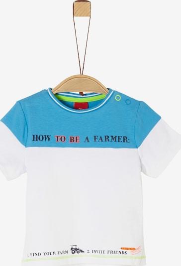 s.Oliver T-Shirt in aqua / weiß, Produktansicht