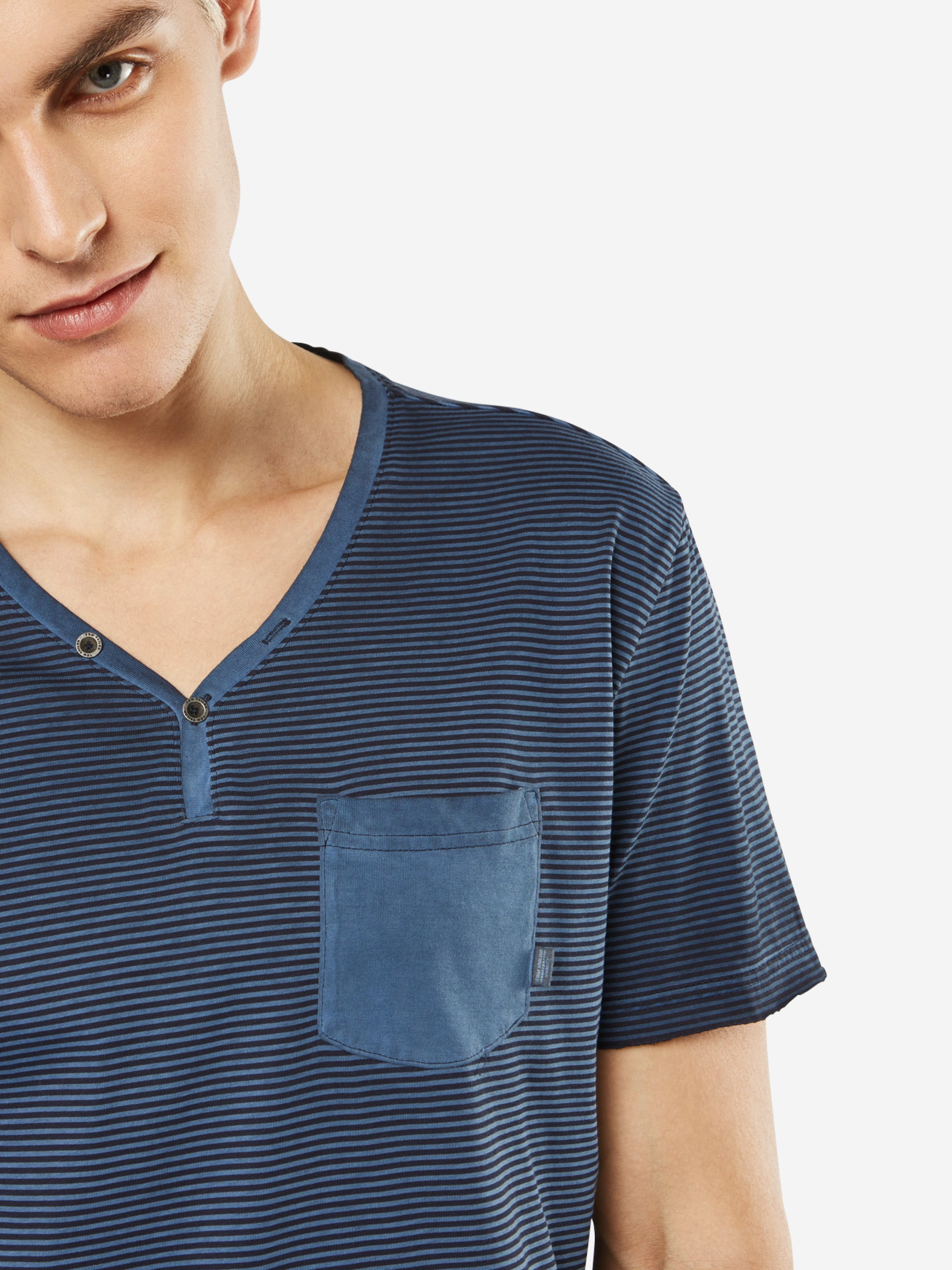 Billig Verkauf Neueste Billig Verkauf Versorgung TOM TAILOR T-Shirt 'Striped serafino with w' Eastbay Günstig Online Footlocker Bilder Zum Verkauf 3HRakbfR
