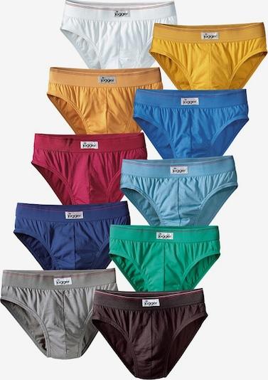 LE JOGGER Slips (10 Stck.) in himmelblau / hellblau / dunkelblau / dunkelbraun / gelb / goldgelb / grau / smaragd / dunkelrot / weiß, Produktansicht