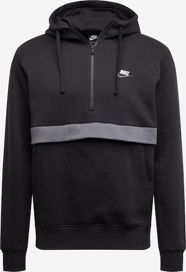 Nike Sportswear Bluzka sportowa 'M NSW CLUB HOODIE HZ BB' w kolorze szary / czarnym, Podgląd produktu