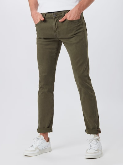 JACK & JONES Jeans 'Glenn' in oliv: Frontalansicht