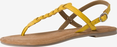 TAMARIS Sandale in hellbraun / gelb, Produktansicht
