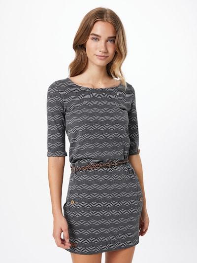 Ragwear Kleid 'Tanya' in grau / dunkelgrau / weiß, Modelansicht