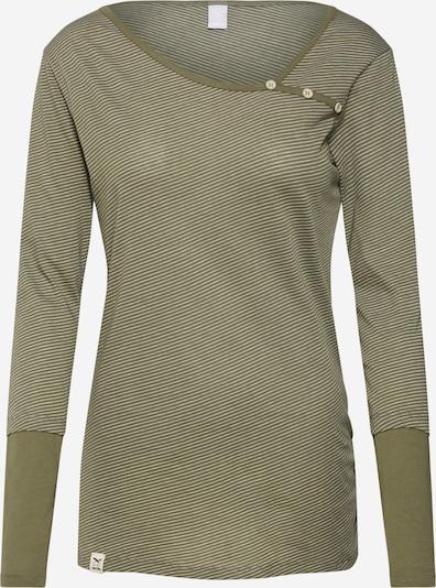 Iriedaily Koszulka w kolorze khaki / białym, Podgląd produktu