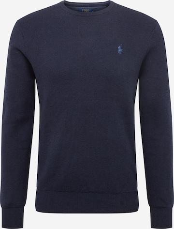 Polo Ralph Lauren Sweater 'PIMA COTTON-LS CN PP' in Blue