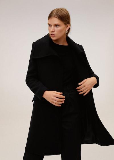 MANGO Mantel 'Jane' in schwarz, Modelansicht