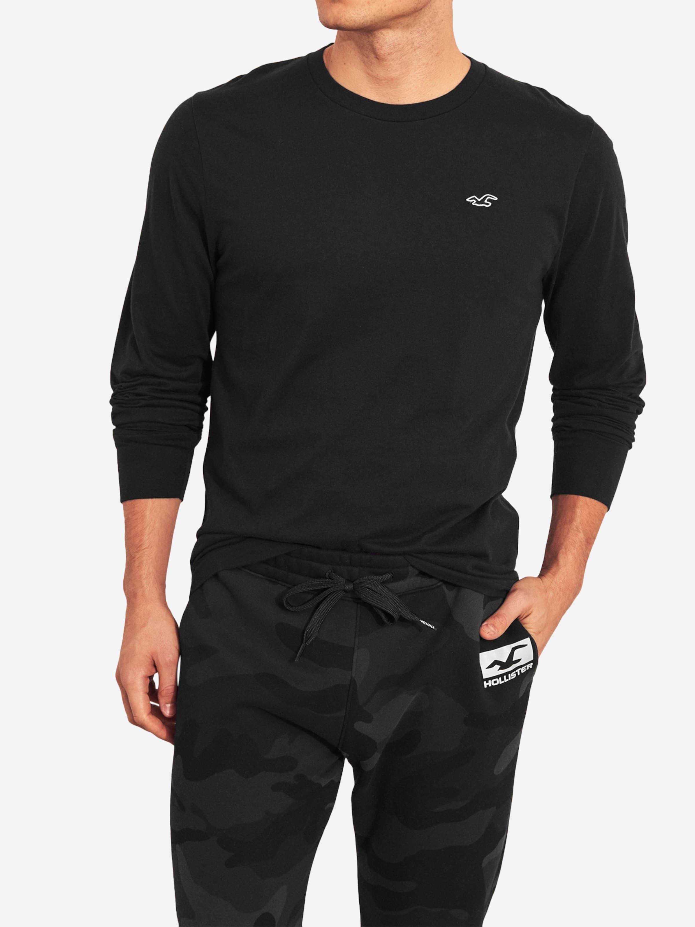 'bts19 Straight 6cc' In Schwarz Shirt mh Ls Hollister Crew Hem BerdCox